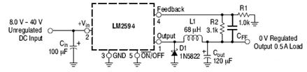 LM2594: Buck Regulator, Switching, 0.5 A
