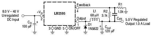 LM2595: Buck Regulator, Switching, 1.0 A