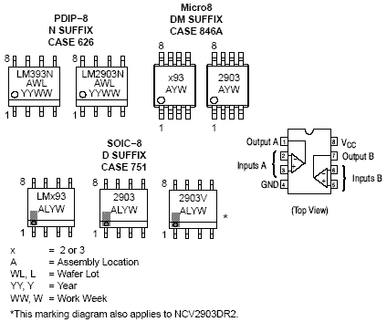 NCV2903: Comparator, Dual, Low Offset Voltage