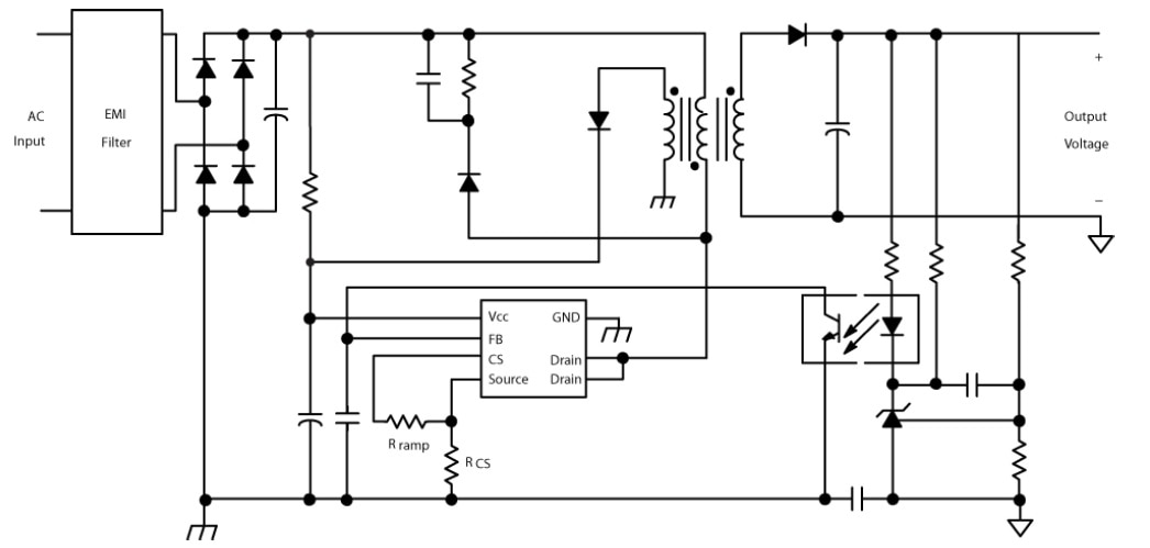 ncp1129  high voltage switching regulator for offline smps