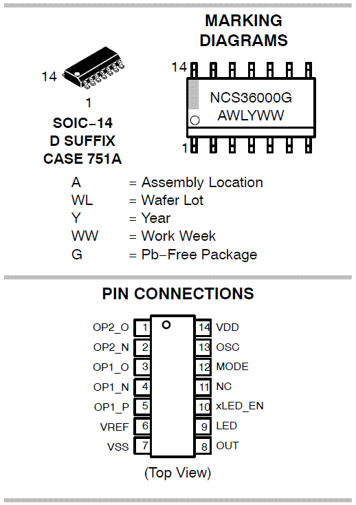 NCS36000: Passive Infrared Detector Controller (PIR)