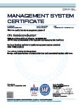 ISO/TS 16949:2009 Certificate for Hanyu, Japan