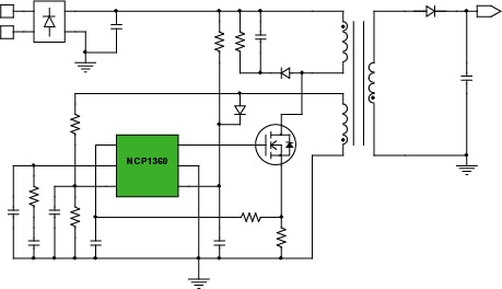 12 W Adapter- NCP1360 Block Diagram