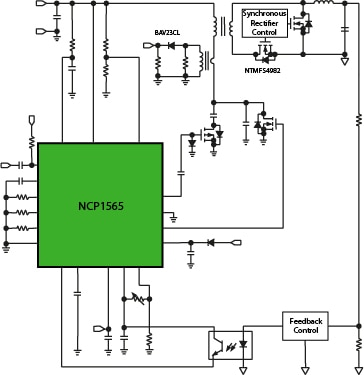 100 W Power Supply- Active Clamp 1/8 Brick  Block Diagram